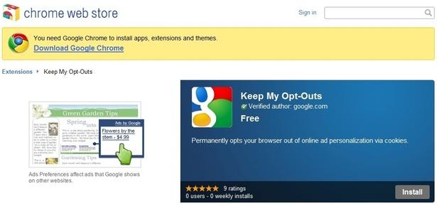 Extensão para o Chrome desabilita cookies de rastreamento para uso de anunciantes