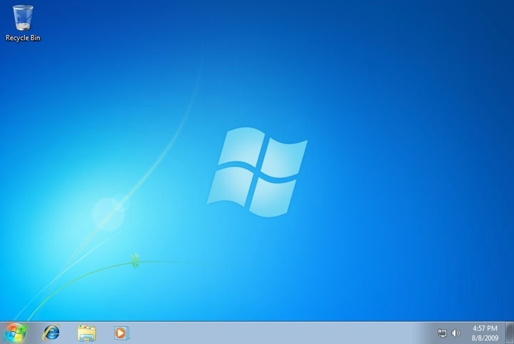 Windows 7   Fundo Azul on o trocar plano de fundo do windows 7