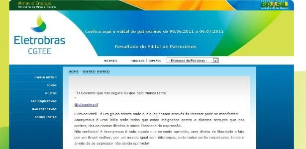 Página da CGTEE é desfigurada; no lugar do conteúdo normal, hackers publicaram manifesto