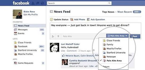 Facebook segue Orkut e libera recurso que organiza listas de ...