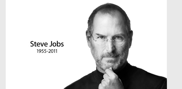 Imagem de Steve Jobs no site da Apple