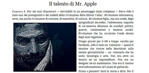 L'Osservattore Romano, jornal oficial do Vaticano, presta homenagem a Steve Jobs