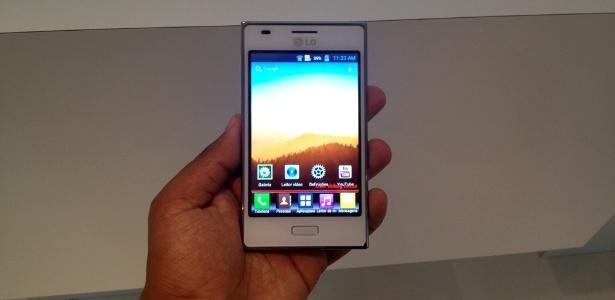 LG vai lan�ar Optimus L5 at� junho; aparelho tem sistema Android e suporta dois chips