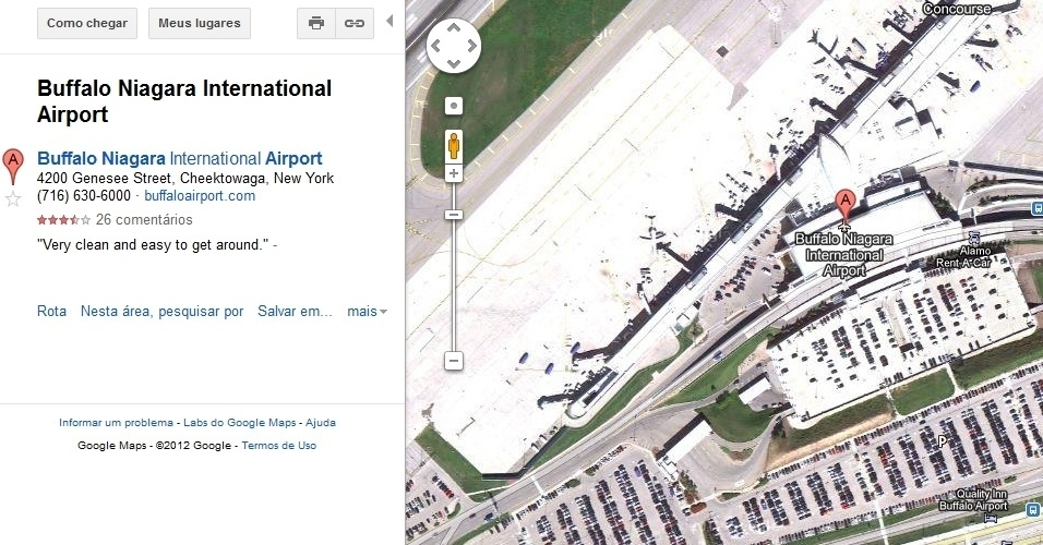 Aeroporto Internacional Buffalo Niagara no Estado de Nova York
