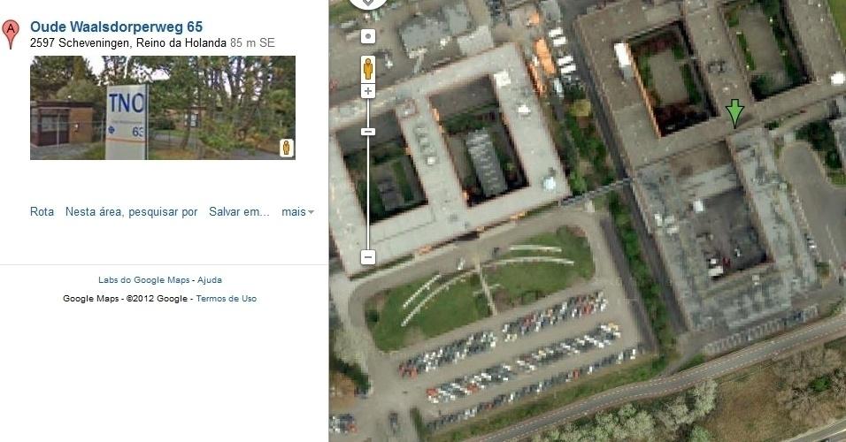 Agência de Consulta, comando e controle da Otan, na Holanda, no Google Maps