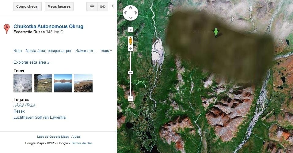 Área em Chukotka Autonomous Okrug, Rússia, no Google Maps