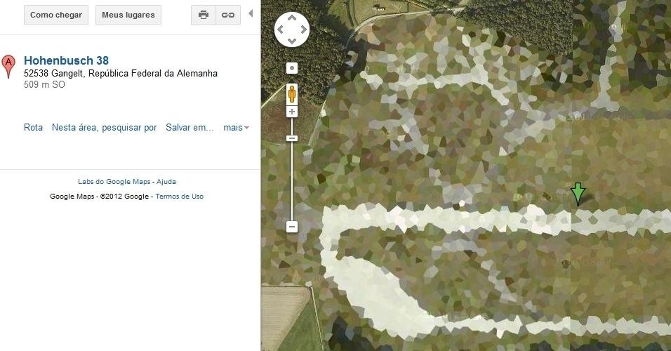 Base aérea da Otan em Geilenkirchen, na Alemanha, no Google Maps