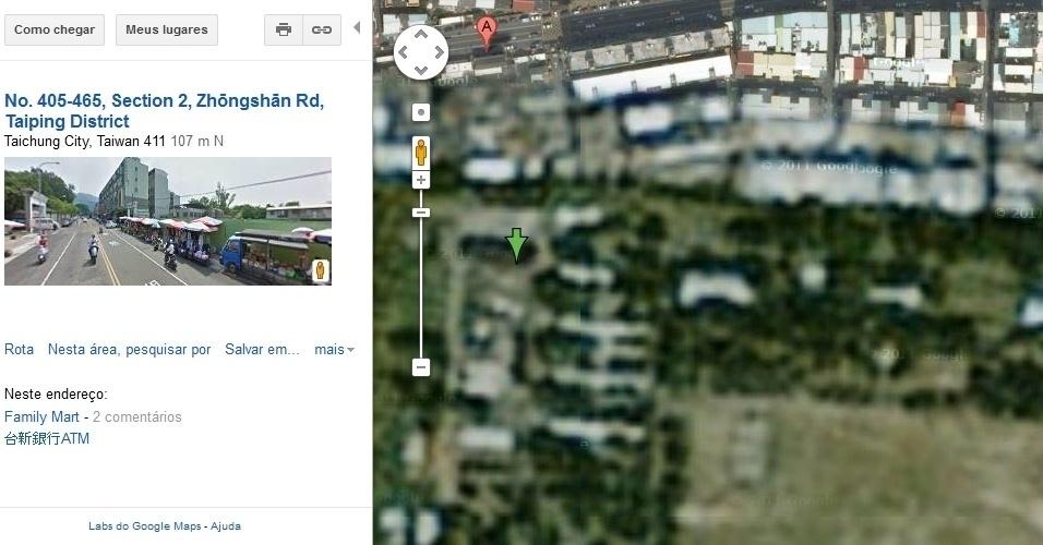 Base de reserva militar em Taiwan, no Google Maps