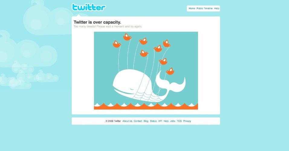 Baleia do Twitter - tamanhos grandes