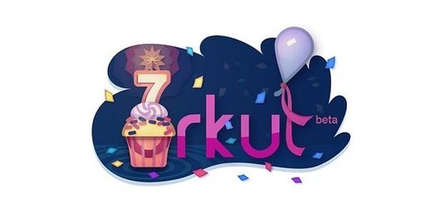 Google lançou um doodle - logomarca comemorativa - para os sete anos do Orkut