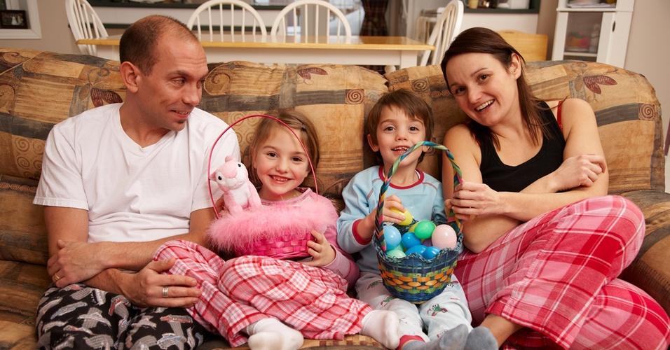 Família reunida na Páscoa