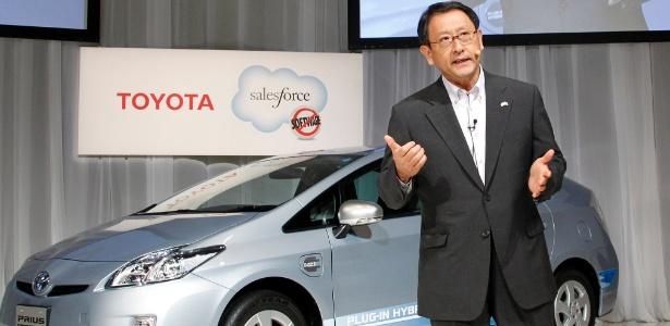 Akio Toyoda, presidente da Toyota, anúncio de nova modalidade de venda de carros - Koji Sasahara/AP