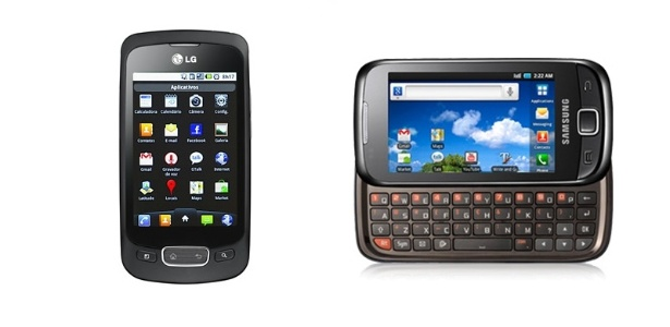 Smartphones LG Optimus One e Samsung Galaxy 551 têm Android, mas não rodam Flash