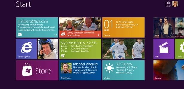 Microsoft trocou os ícones estáticos por blocos que atualizam informações em tempo real