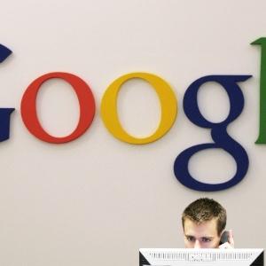 Homem trabalha em escritório do Google em Nova York, Estados Unidos - Mark Lennihan/AP