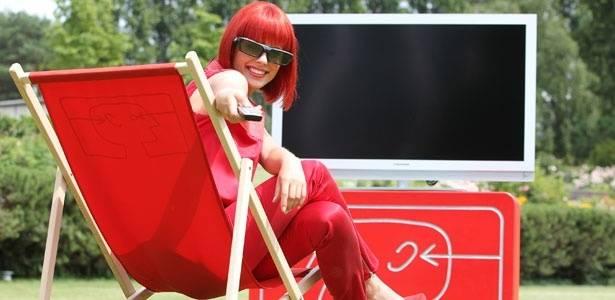 Em seu primeiro ano como Miss IFA, Eva se disse impressionada com as novas TVs