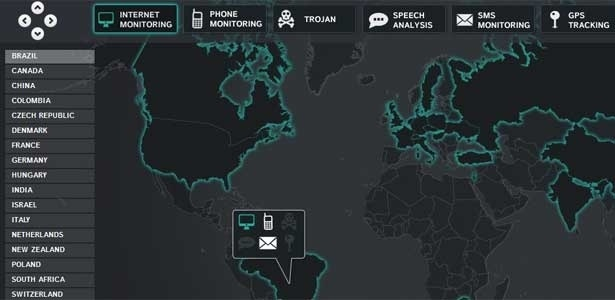 Wikileaks divulgou 'mapa da espionagem