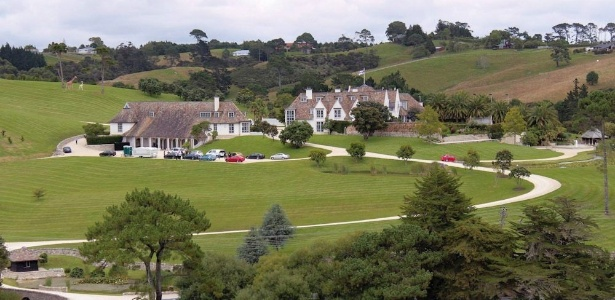 Casa de Kim Schmitz em Coatesville, perto de Auckland, na Nova Zelândia