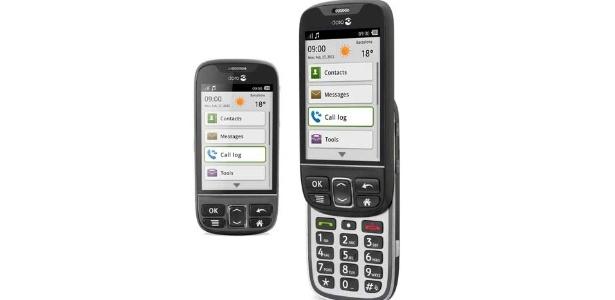 Doro Phone Easy 740 pode ser operado pela tela touch de 3,2 polegadas e por botões