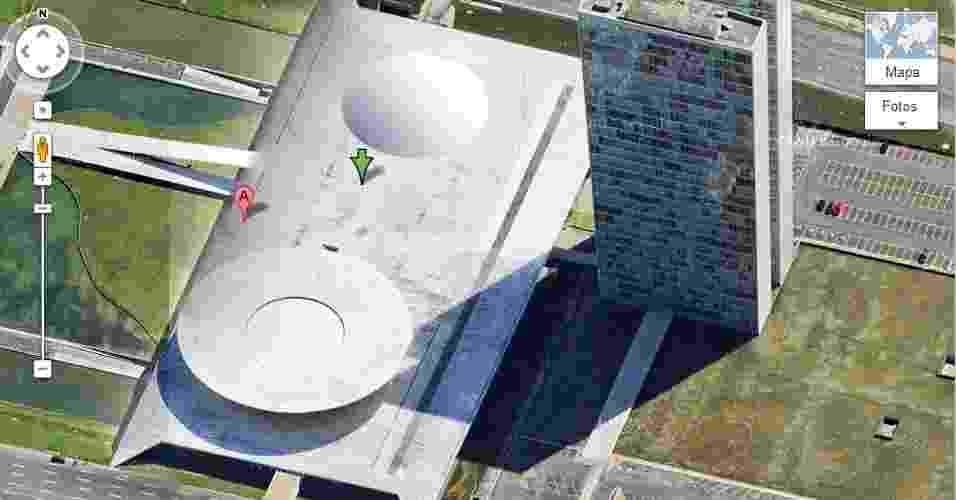 Congresso Nacional em Brasília mostrado pelo Google Maps - Reprodução/Google Maps